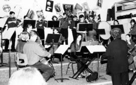 Lord Byng string orchestra, with teacher