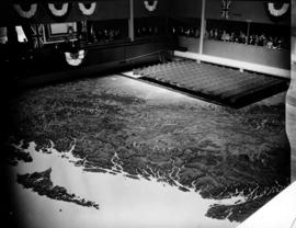 Unveiling ceremony for Challenger relief map of British Columbia in P.N.E. B.C. Building