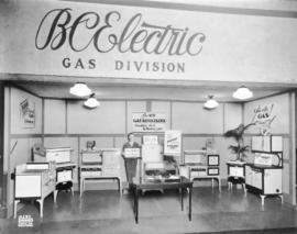 B.C. Electric Power Gas Division display of natural gas appliances
