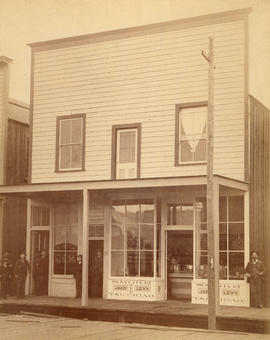[The Gem and Jack Levy's cigar store on Cordova Street]
