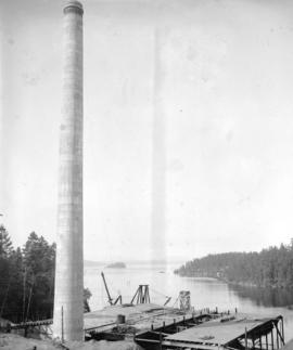 [View of inlet behind Brentwood Bay Steam Plant]