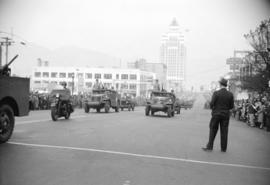 [Military parade on Burrard Street]