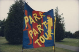 Park Party Tour Sign