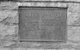 Ferguson Point including plaque