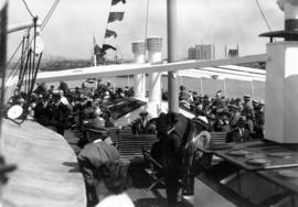"[S.S. ""Lady Alexandra"" passenger seating upper deck, stern]"