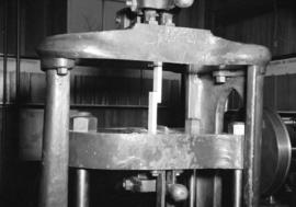 [Wood testing equipment in forestry lab at U.B.C.]