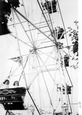 Ferris wheel in midway carnival