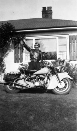 Don MacLean and motorcycle.