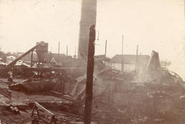 [The destruction after the fire at Hastings Sawmill]
