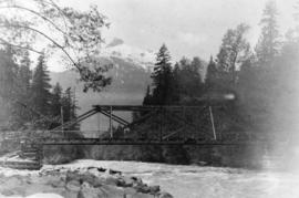[An unidentified bridge over a river]