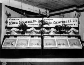 Central Creameries of B.C. display of butter carvings