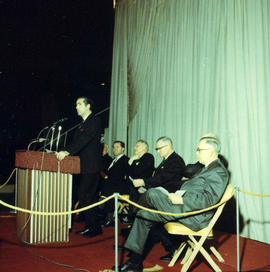 Ceremony for official opening of Pacific Coliseum