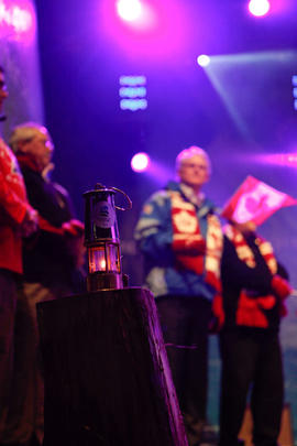 Paralympic lantern at the Maple Ridge Torch Relay Celebration