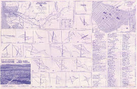 Maps of downtown Vancouver and the Fraser Valley, detail maps of traffic interchanges, and genera...