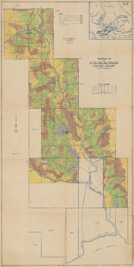 Topographical map of T.L.7563, 7564, 7566, 13119 and 13120 - McNab Creek, Howe Sound, New Westmin...