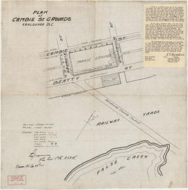 Plan of Cambie St. grounds