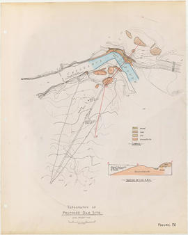 Topography of proposed dam site