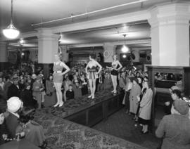[A swim suit fashion show at the Hudson's Bay Company]