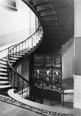 Main staircase, from the first floor [Vancouver museum]