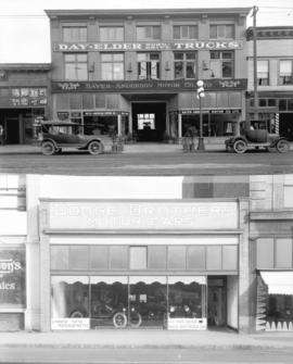 [Hayes-Anderson Motor Co. Ltd. (top) and Dodge Brothers Motor Cars (bottom), Granville Street