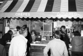 Crepes and quiches food stand on P.N.E. grounds