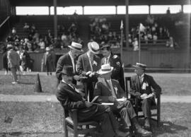 [Officials (Judges) at Caledonian Games]