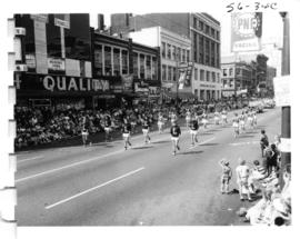 B.C. Lions cheerleaders in 1956 P.N.E. Opening Day Parade