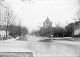 [View of Georgia Street, looking east from Thurlow Street]