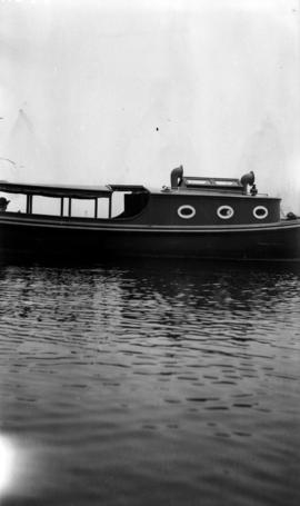 [Unidentified boat with passenger]
