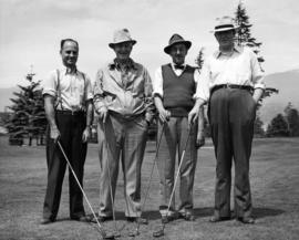 Unidentified men on golf course at Exhibition Park