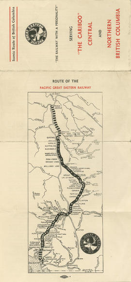 The scenic route of British Columbia : Pacific Great Eastern Railway : side 1
