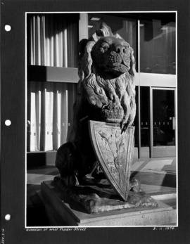 Guardian [lion sculpture] of West Pender Street.