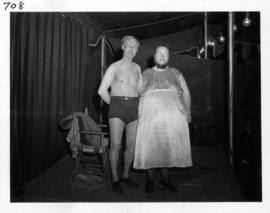Bearded woman and man with alligator skin, freak show performers