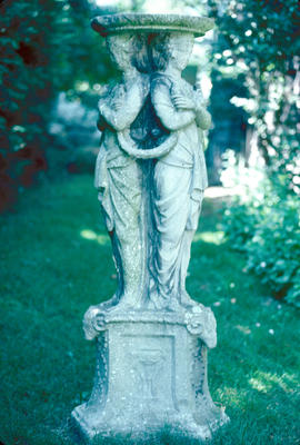 "Sculptures and Art : ""Three Graces,"" cast stone"
