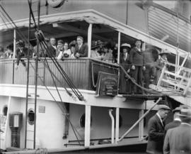 [Mr. Underwood and family on T.S.S. Zealandia]