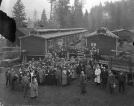 Capilano Lumber Co. Camp - Visit of Imperial Press Delegate to Conference
