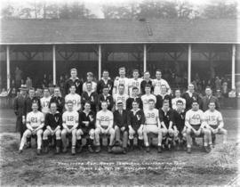 Vancouver Rep. rugby team and Californian team with Mayor L.D. Taylor. Brockton Point. Dec. 30 [1...