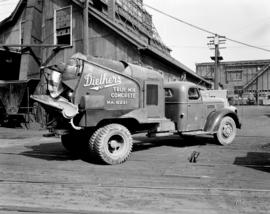 [Diethers Ltd. cement truck at the plant on Granville Island]
