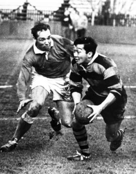 Ted Hunt. Rugby.