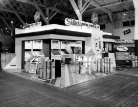 Sidney Roofing and Paper Co. display of roofing and siding products