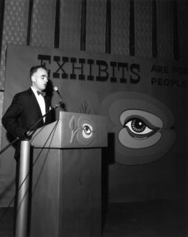 Exhibits are for People reception - Bayshore - Oct 21/65 : [P.N.E. General Manager A.P. Morrow sp...