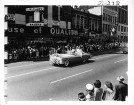 West Vancouver decorated car in 1956 P.N.E. Opening Day Parade