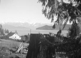 [View of Howe Sound from the road to the telephone office]