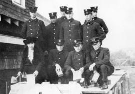 [Laying the cornerstone of the new headquarters firehall of the Point Grey Fire Department (Fireh...