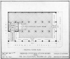 Proposed office bldg & show rooms for the B.C. Electric Railway Co. Ltd. : ground floor plan