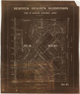 Sectional map, city of Vancouver, B.C. : Renfrew Heights, subdivision in a part of the town of Ha...