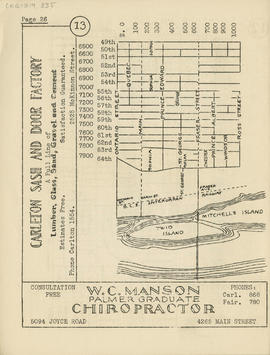 Sectional map and street directory of Vancouver, British Columbia : [Ross Street to Forty-ninth A...
