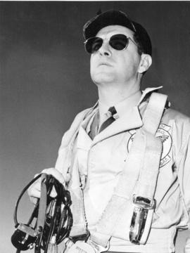 [Head and shoulders portrait of] Pat Howard, Chief Test Pilot for Boeing Aircraft of Canada