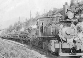 'Baldwin' locie [locomotive] on Eagle River and Northern Railway - Brooks-Scanlon-O&#03...