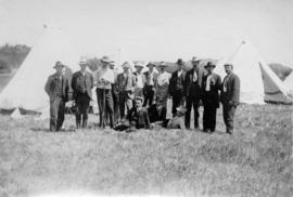 [Members of the B.C. Rifle Association at Clover Point]